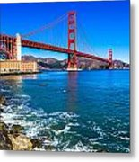 Golden Gate Bridge San Francisco Bay Metal Print by Scott McGuire