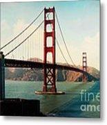 Golden Gate Bridge Metal Print by Sylvia Cook