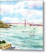 Golden Gate Bridge View From Point Bonita Metal Print by Irina Sztukowski