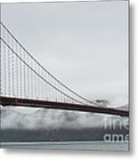 Golden Gate By The Bay Metal Print by David Bearden