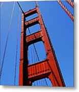 Golden Gate Tower Metal Print by Rona Black