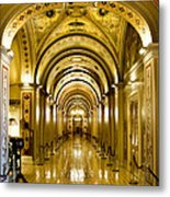 Golden Government Metal Print by Greg Fortier