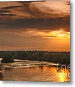 Golden Payette River Metal Print by Robert Bales