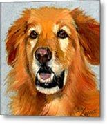Golden Retriever Dog Metal Print by Alice Leggett