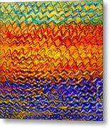 Golden Sunrise - Abstract Relief Painting Original Metallic Gold Textured Modern Contemporary Art Metal Print by Emma Lambert