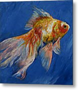 Goldfish Metal Print by Michael Creese