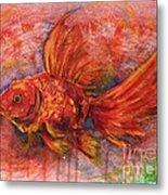 Goldfish Metal Print by Zaira Dzhaubaeva