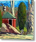 Golf Course Shed Series No.14 Metal Print by Charlie Spear
