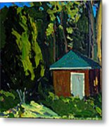 Golf Course Shed Series No.19 Metal Print by Charlie Spear