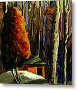 Golf  Shed Series No16 Metal Print by Charlie Spear