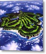 Golfer's Paradise Metal Print by Jerry LoFaro