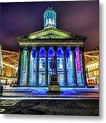 Goma Glasgow Lit Up Metal Print by John Farnan