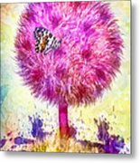 Good Luck Tree Metal Print by Mo T