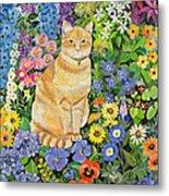 Gordon S Cat Metal Print by Hilary Jones