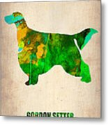 Gordon Setter Poster 2 Metal Print by Naxart Studio
