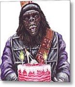 Gorilla Party Metal Print by Mark Tavares