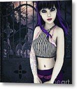 Gothic Temptation Metal Print by Jutta Maria Pusl