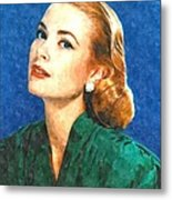 Grace Kelly Painting Metal Print by Gianfranco Weiss