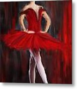 Graceful Stand Metal Print by Lourry Legarde