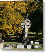 Graceland Cemetery Chicago - Tomb Of John W Root Metal Print by Christine Till