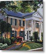 Graceland Home Of Elvis Metal Print by Cecilia Brendel