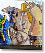 Graffiti Art Curitiba Brazil  19 Metal Print by Bob Christopher
