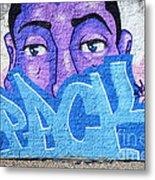 Graffiti Art Santa Catarina Island Brazil Metal Print by Bob Christopher