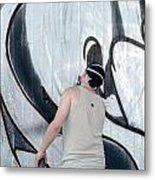 Graffiti Artist Metal Print by Frank Gaertner