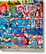 Graffiti Street Metal Print by Bill Cannon