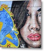 Grafitti Art Calama Chile Metal Print by Bob Christopher