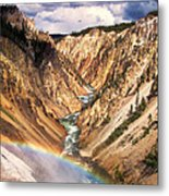 Grand Canyon Of Yellowstone 1 Metal Print by Thomas Woolworth