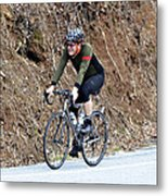 Grand Fondo Rider Metal Print by Susan Leggett