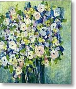 Grandma's Flowers Metal Print by Sherry Harradence