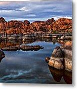 Granite Dells At Watson Lake Arizona 2 Metal Print by Dave Dilli