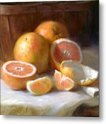 Grapefruit Metal Print by Robert Papp