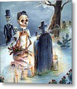 Grave Sight Metal Print by Heather Calderon
