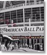 Great American Ball Park And The Cincinnati Reds Metal Print by Dan Sproul