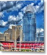 Great American Ballpark Metal Print by Mel Steinhauer