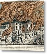 Great Fire Of New York, 1776 Metal Print by Science Photo Library