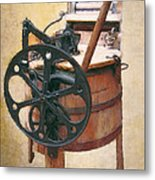 Great-grandmother's Washing Machine Metal Print by Daniel Hagerman