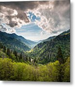 Great Smoky Mountains Landscape Photography - Spring At Mortons Overlook Metal Print by Dave Allen