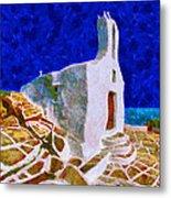 Greek Church 5 Metal Print by George Rossidis