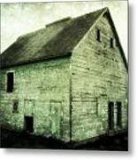Green Barn Metal Print by Julie Hamilton