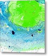 Green Blue Art - Making Waves - By Sharon Cummings Metal Print by Sharon Cummings