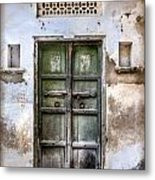 Green Door Metal Print by Catherine Arnas