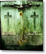 Green Doors Metal Print by Gothicolors Donna