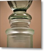 Green Glass Bottle Metal Print by Christi Kraft