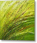 Green Landscape - Abstract Art  Metal Print by Ismeta Gruenwald