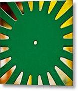 Green Memorial Union Chair Metal Print by Christi Kraft