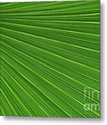 Green Palm Abstract Metal Print by Kathleen Struckle